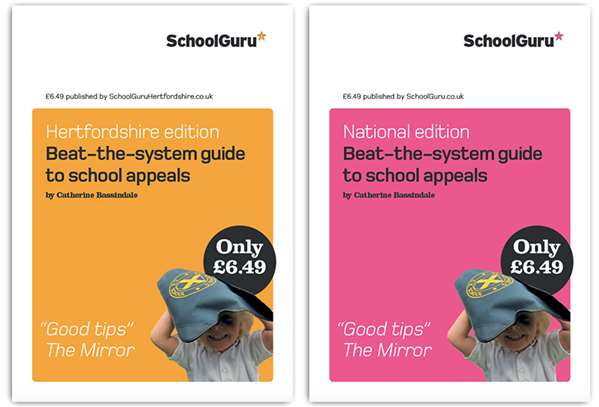 SchoolGuru Nationwide and Hertfordshire school appeals guides for 2020
